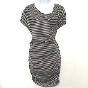 Victoria Secret Dress striped black white small